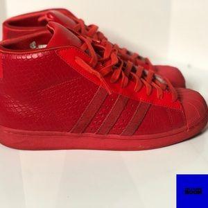 Mens Adidas Pro Model Tomato Red Shell Toe 8.5